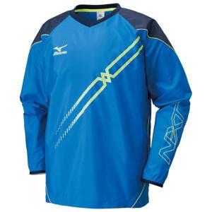 バレー ユニセックス ムーブブレーカーシャツ 長袖 青 ミズノ V2ME651226 展示品|blanc-roche