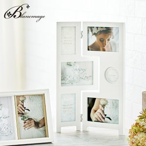 ブライダルフォトフレーム パーテーションフレーム 無料ラッピング 無料メッセージカード 6面 多面 ウェルカムボード 結婚祝い 出産祝い  ラドンナ  DF88-60|blancmage