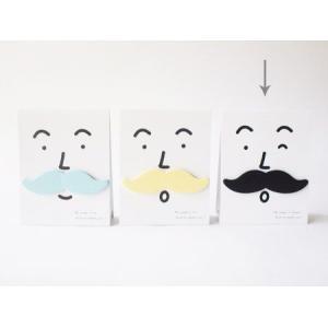 ひげ付箋ふせん  mustache it 黒   SUGAI WORLD スガイワールド|blancoron