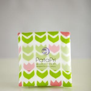 メール便 不可 チューリップ tulip  ガーゼタオル gauze towel  Mango Art Company マンゴーアートカンパニーx PataPri デザイン|blancoron