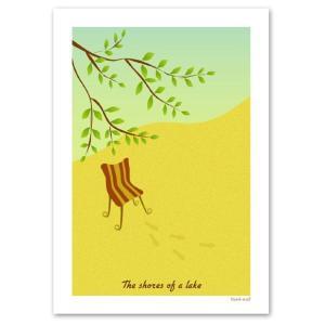 ポスター 北欧デザイン 『Afternoon』 A3サイズ インテリア おしゃれポスター Interior Art Poster|blankwall
