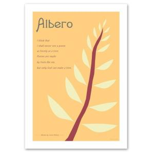アートポスター 北欧スタイル A3サイズ 『Albero ピンクオレンジ』 花,植物 インテリア おしゃれ Interior Art Poster|blankwall
