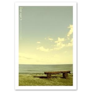 ポスター A3サイズ 『Calmday』 海 写真 自然 風景 おしゃれ Interior Art Poster|blankwall
