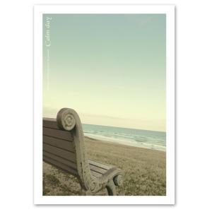 ポスター A3サイズ 『Calmday-b』 海 写真 自然 風景 おしゃれ Interior Art Poster|blankwall