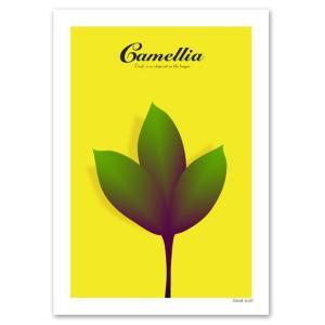Interior Art Poster ポスター A2サイズ 『Camellia イエロー』 椿/花,植物ポスター|blankwall