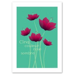 ポスター A3サイズ 『Cinq ブルー』 アート/花,植物 おしゃれポスター/Interior Art Poster blankwall
