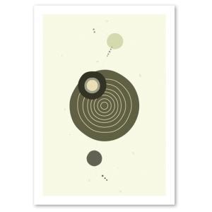ポスター 北欧スタイル A2サイズ 『Cooperation2 グレー a』 おしゃれ インテリア Interior Art Poster blankwall