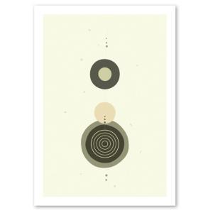 ポスター 北欧スタイル A2サイズ 『Cooperation2 グレー b』 おしゃれ インテリア Interior Art Poster blankwall