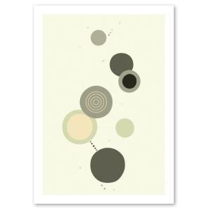 ポスター 北欧スタイル A2サイズ 『Cooperation2 グレー d』 おしゃれ インテリア Interior Art Poster blankwall