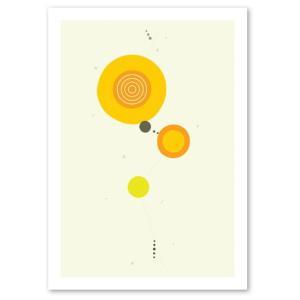 ポスター 北欧スタイル A2サイズ 『Cooperation2 イエロー c』 おしゃれ インテリア Interior Art Poster|blankwall