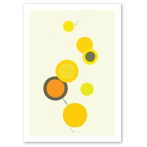 ポスター 北欧スタイル A2サイズ 『Cooperation2 イエロー d』 おしゃれ インテリア Interior Art Poster|blankwall