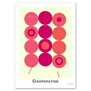 ポスター 北欧スタイル A2サイズ 『Cooperation ピンク』 おしゃれ インテリア ポップポスター Interior Art Poster|blankwall