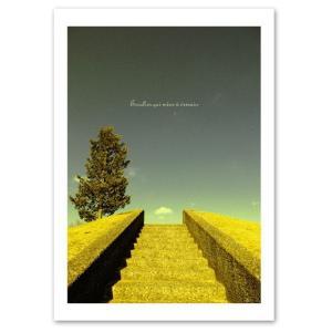 インテリアポスター A2サイズ 『Escalier』 フォト 風景,景色ポスター Interior Art Poster|blankwall