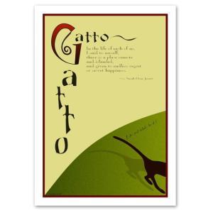 ポスター A2サイズ 『Gatto』 猫/風景,景色 おしゃれポスター/Interior Art Poster|blankwall
