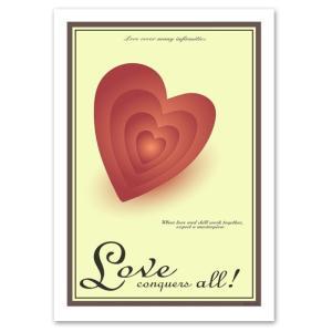 ポスター A3サイズ 『Heart』 ハート/おしゃれ/ポップポスター/Interior Art Poster|blankwall