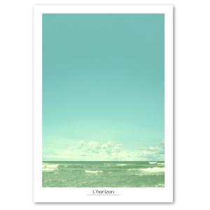 ポスター A2サイズ 『Horizon-a』 海 フォト 水平線 人気 おしゃれポスター Interior Art Poster|blankwall