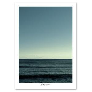 ポスター A3サイズ 『Horizon-c』 海 フォト 水平線 おしゃれポスター Interior Art Poster|blankwall