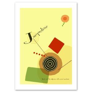 ポスター A3サイズ 『Jacqueline』 アート/北欧/ポップ おしゃれポスター/Interior Art Poster|blankwall