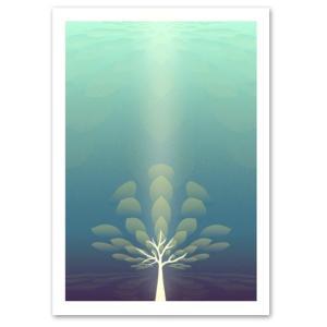 ポスター A3サイズ 『Lignum』 アート/花,植物 ポスター/ Interior Art Poster blankwall