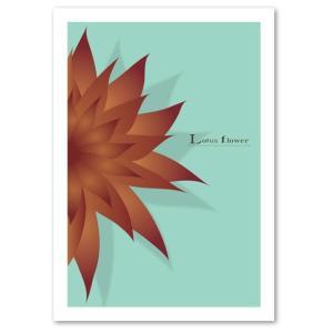 ポスター A3サイズ 『Lotus flower ブルー』 アート/花,植物/人気 おしゃれポスター/Interior Art Poster|blankwall