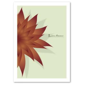 ポスター A3サイズ 『Lotus flower グレーベージュ』 アート/花,植物 おしゃれポスター/Interior Art Poster|blankwall