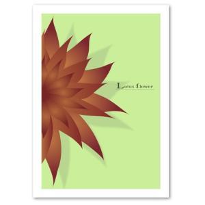 ポスター A3サイズ 『Lotus flower グリーン』 アート/花,植物 おしゃれポスター/Interior Art Poster|blankwall