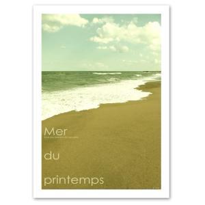 ポスター A2サイズ 『Mer du printemps』 おしゃれ / フォト / 風景 / 海 ポスター / Interior Art Poster|blankwall