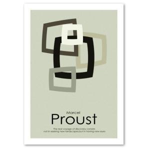 インテリアポスター A2サイズ 『Proust グレーベージュ』 デザイン/アート おしゃれポスター/Interior Art Poster|blankwall