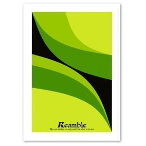 ポスター A3サイズ 『Reamble グリーン』 レトロ デザイン アート おしゃれ ポスター '60年代 Interior Art Poster|blankwall