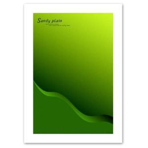 アートポスター A2サイズ 『Sandyplain グリーン』 クール ポスター Interior Art Poster|blankwall