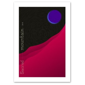 ポスター A2サイズ 『紫月』 アート 風景,景色 ポスター Interior Art Poster|blankwall