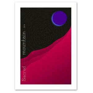 ポスター A3サイズ 『紫月』 アート 風景,景色 ポスター Interior Art Poster|blankwall