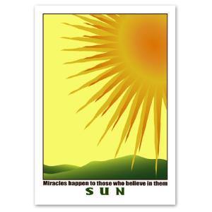 インテリア アートポスター 太陽 A3サイズ 『Sun』  風景,景色 INTERIOR ART POSTER|blankwall