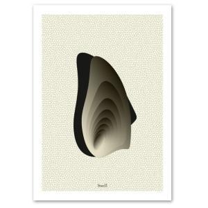 ポスター A2サイズ 『Swell-a』 イラストアート シリーズ 静寂 Interior Art Poster|blankwall