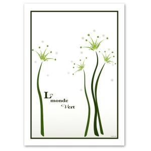 ポスター A3サイズ 『Vert』 インテリア/アート/花,植物 ポスター/ Interior Art Poster blankwall