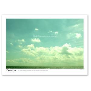 ポスター A3サイズ 『Horizon-b 横タイプ』 インテリア フォト 風景,景色ポスター Interior Art Poster|blankwall