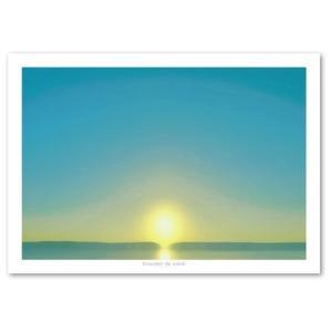 ポスター A2サイズ 『Lac-b』 インテリア 風景 夕日 フォト Interior Art Poster|blankwall