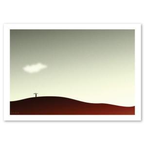 ポスター A3サイズ 『Unus-b』 イラストアート 風景,景色 Interior Art Poster|blankwall