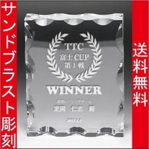 表彰盾 名入れ 表彰式 発表会 社内表彰 イベント 優勝 DP−10 S|blastglass
