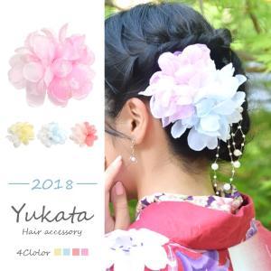 浴衣 髪飾り フラワー クリップ キュート フラワー BLAZE ヘアアクセサリー ヘアアクセ  ショート 大きめ 大きい 造花 花 着物 和装 振袖 成人式|blaze-japan