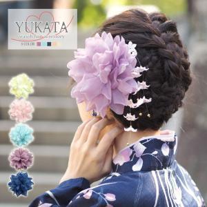 浴衣 髪飾り フラワー クリップ ラメ フラワー BLAZE ヘアアクセサリー 大きめ 花 着物|blaze-japan
