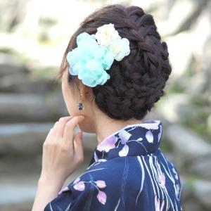 浴衣 髪飾り フラワー クリップ キュート フラワー BLAZE ヘアアクセサリー 大きめ 花 着物|blaze-japan|03