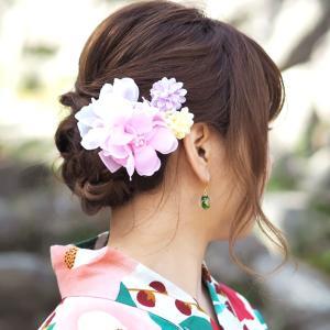 浴衣 髪飾り フラワー クリップ キュート フラワー BLAZE ヘアアクセサリー 大きめ 花 着物|blaze-japan|04