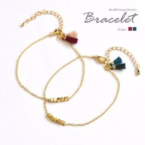 ゴールド チェーン ブレスレット ミニ タッセル BLAZE アクセサリー ブレス|blaze-japan