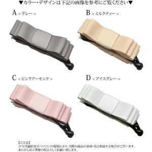 グログラン  リボン バナナクリップ ストレート ヘアアクセサリー クリップ ヘアクリップ 無地 シンプル|blaze-japan|05