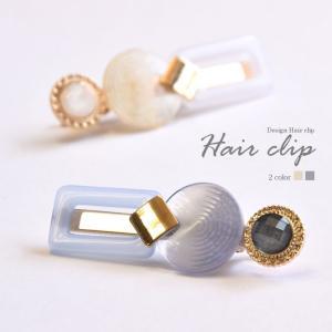ゴールド デザイン クリップ ラウンド & スクエア BLAZE ヘアアクセサリー ヘアアクセ  メール便 送料無料|blaze-japan