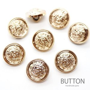 プラスチック ボタン ゴールド エンブレム 8個セット 約15mm|blaze-japan