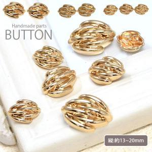 メタル ボタン レトロ デザイン ゴールド|blaze-japan