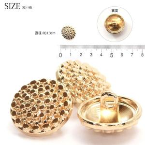 メタル ボタン  パヴェ ハンドメイド ゴールド 3個セット 13mm|blaze-japan|03