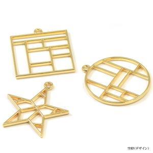 空枠 デザイン BLAZE チャーム ゴールド アクセサリー パーツ フレーム|blaze-japan